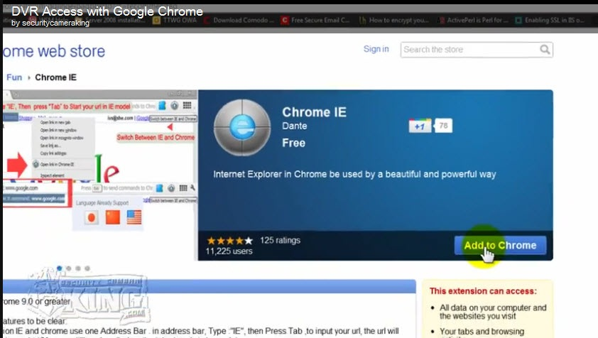 How to Access your Security DVR using Google Chrome