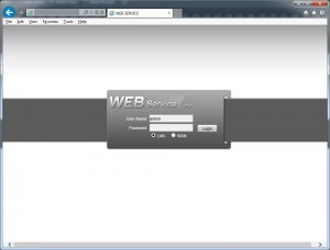 DVR Web Service Login Page