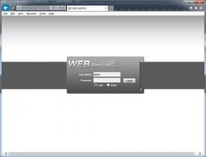 DVR Web Service Login Page