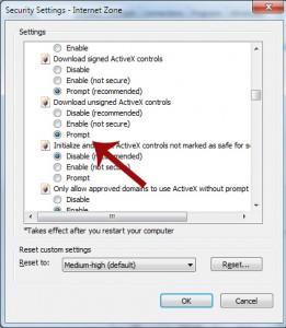 Unsigned ActiveX Prompt
