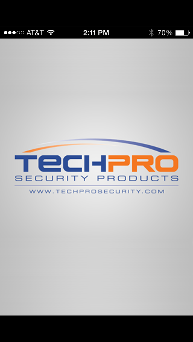 techpross intro screen