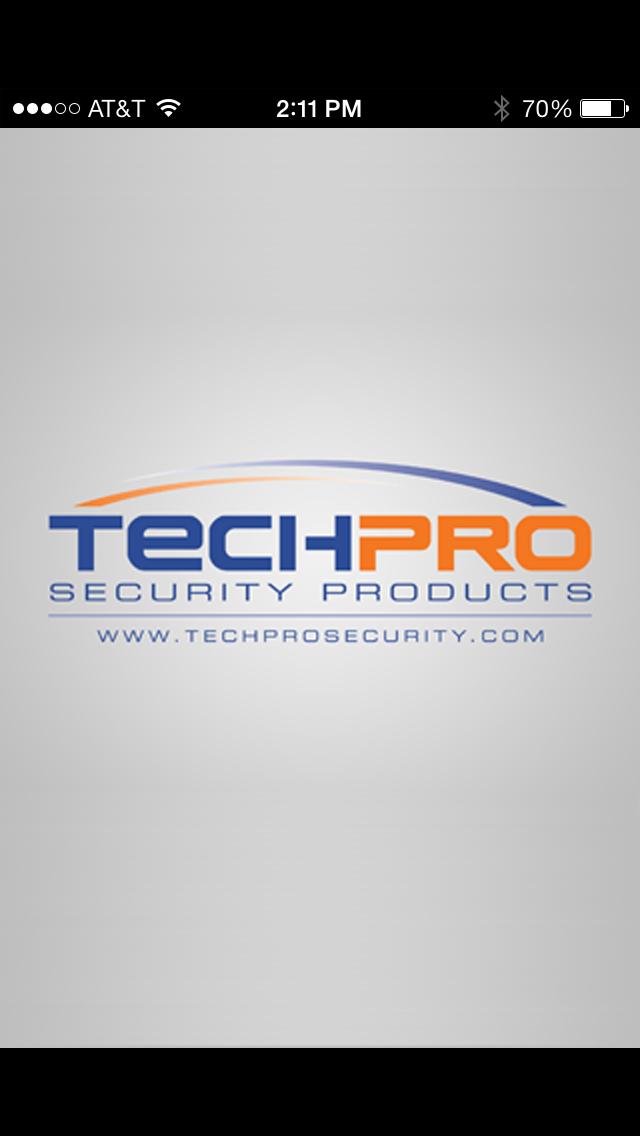 techpross intro screen