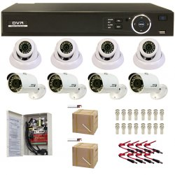 HD-CVI complete security camera system.