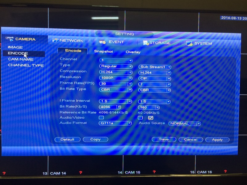 Tribrid DVR Menu2