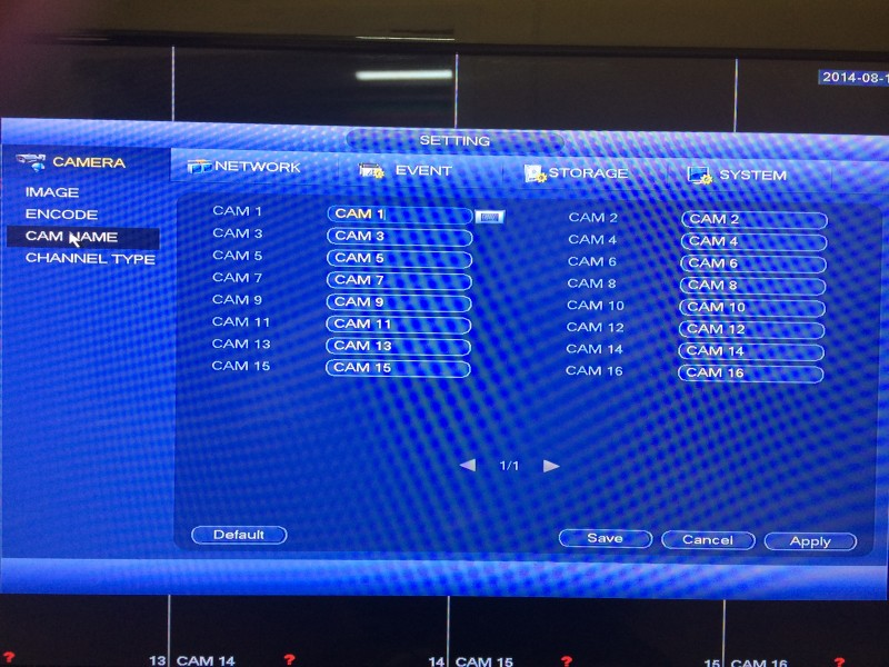 Tribrid DVR Menu 3