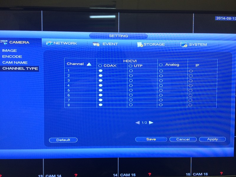 Tribrid DVR Menu4
