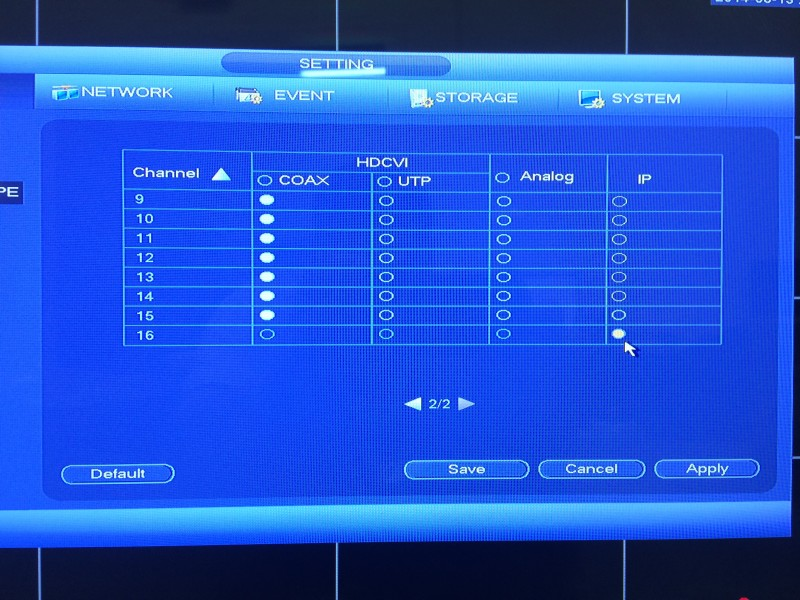 Tribrid DVR Menu5