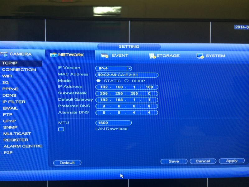 Tribrid DVR Menu6