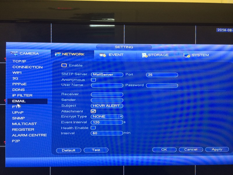 Tribrid DVR Menu8