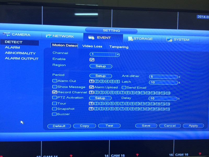 Tribrid DVR Menu9