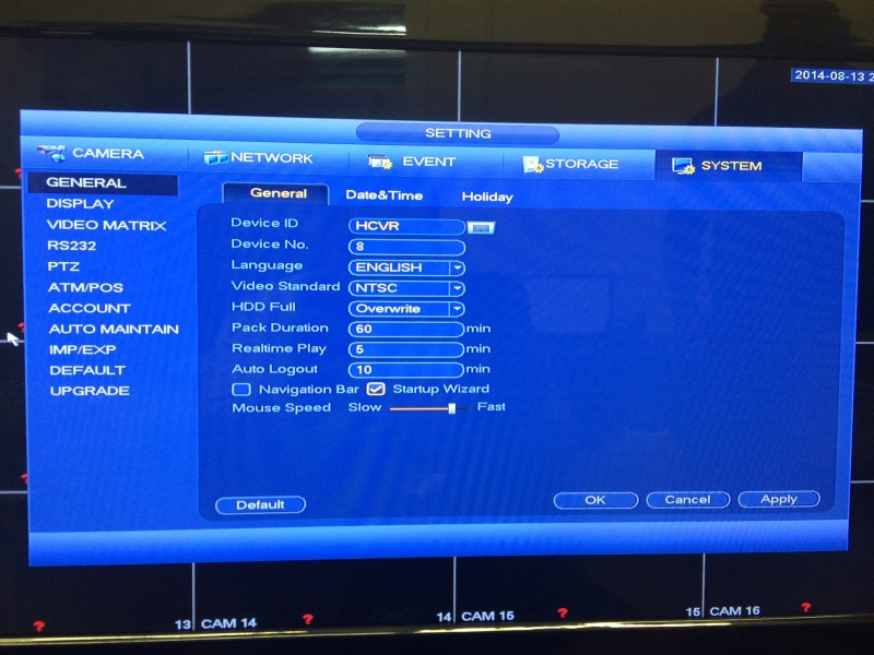 Tribrid DVR Menu14