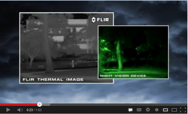 Different security camera night vision options everything gives off heat and because thermal cameras see heat instead of light you can see a lot more contrast between objects aloadofball Choice Image
