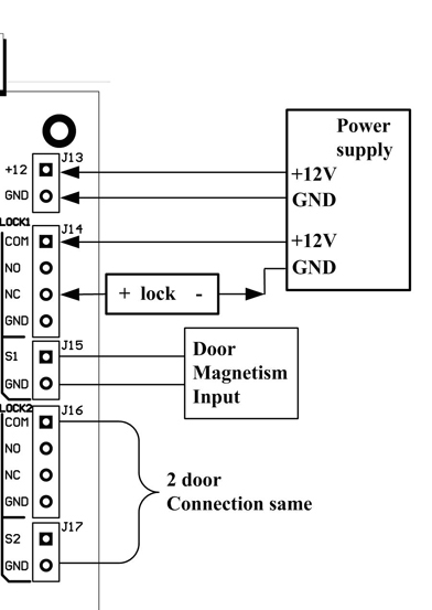 Door Access Control System Wiring Diagram from www.securitycameraking.com
