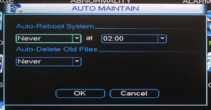 Auto Maintain.