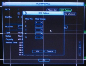 HDD setting