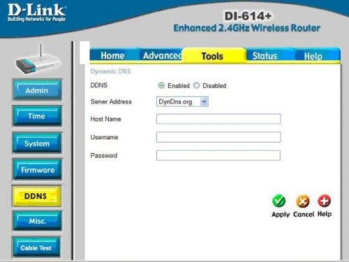 D-Link router ddns settings
