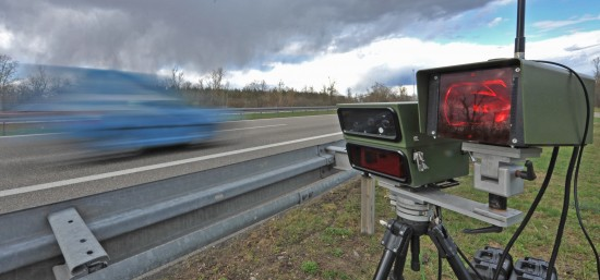 Speed monitoring on autobahn A5