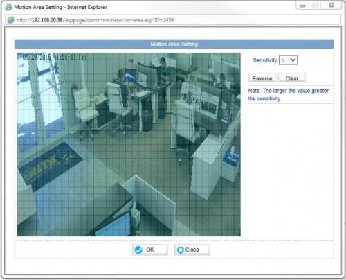 Motion Area Setting ONVIF Camera