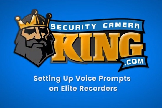 Setting Up Voice Prompts on ELITE Video Recorders