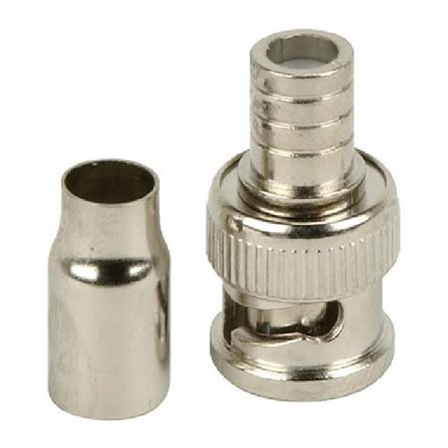 2 Piece Crimp-on BNC Connector (single)