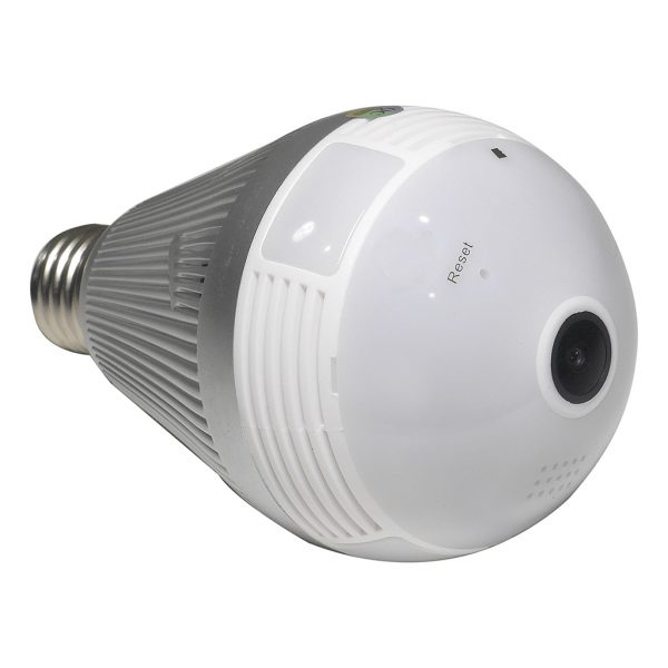 3MP 360° WiFi Panoramic Light Bulb Security Camera
