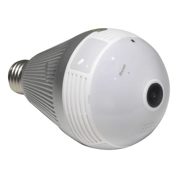 3MP 360° WiFi Panoramic Light Bulb Security Camera