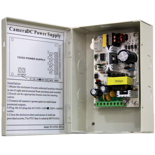 4 Channel CCTV Power Distribution Box