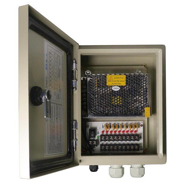 9 Channel 12V DC Weatherproof Power Distribution Box