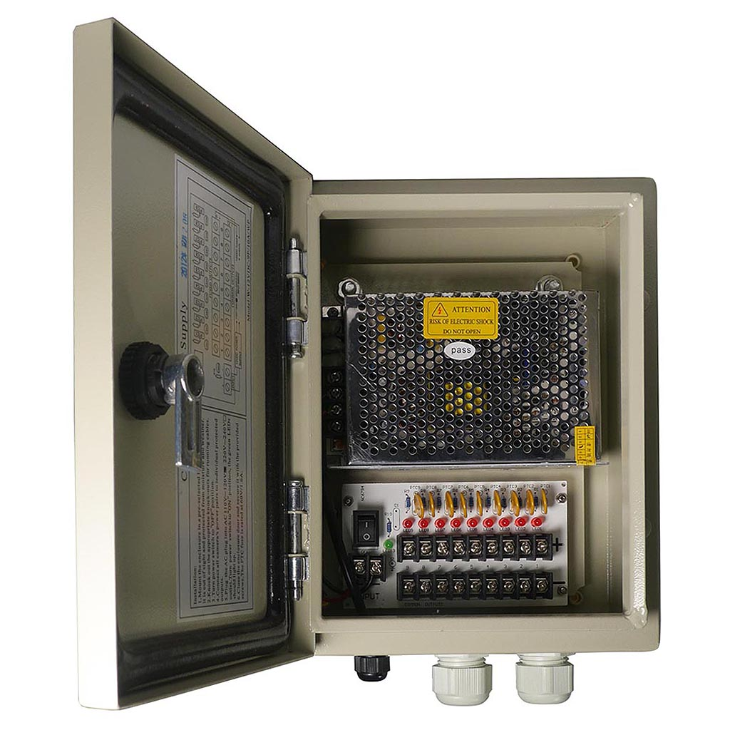 9 Channel 12V DC Weatherproof Power Distribution Box