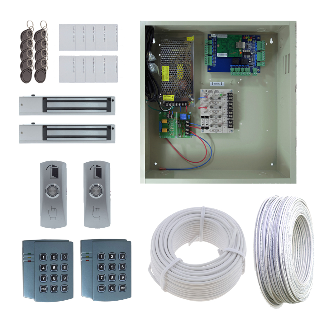 2 Door DX Board Package with 12A Power and Maglocks OR Doorstrikes