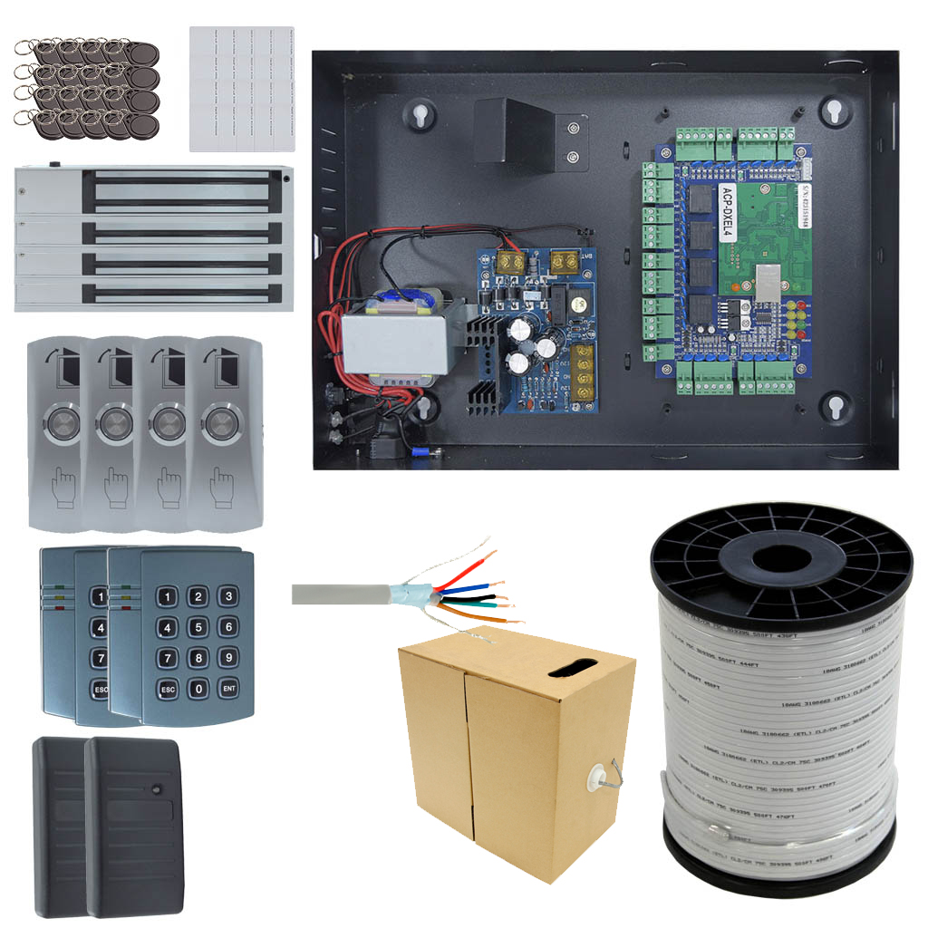 4 Door DX Board Package with Maglock OR Doorstrike