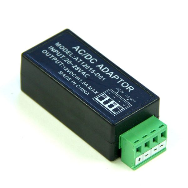 Voltage Converter 24VAC to 12VDC 1.5A
