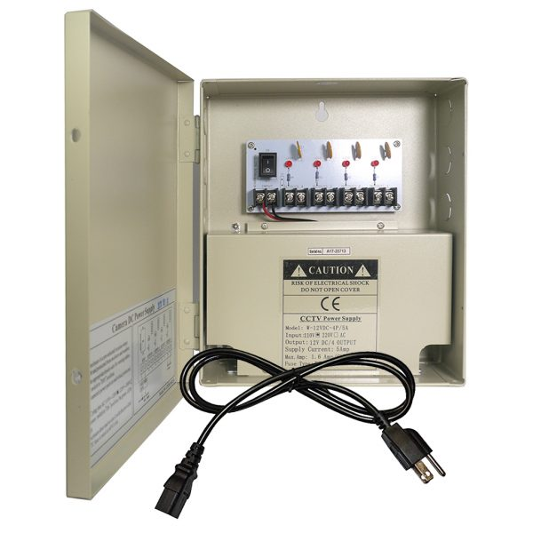 4 Channel 12V DC CCTV Power Distribution Box